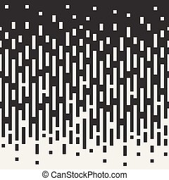 Vector Seamless Black To White Vertical Rectangle Lines Color Transition. Abstract Geometric Background Design