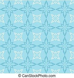 vector seamless blue and white pattern with figures