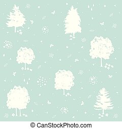Vector seamless blue color, nature pattern