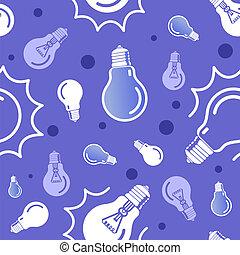Vector seamless blue lamp pattern. Eps10
