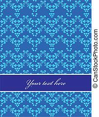 Vector seamless blue pattern, design illustration - 1