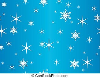 vector seamless blue texture with snowflakes