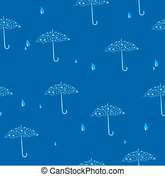 seamless blue texture with umbrella