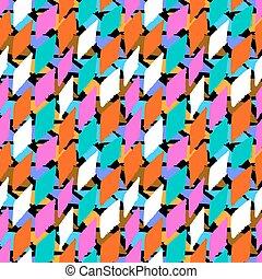 Vector seamless bold harlequin pattern
