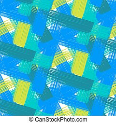 Vector seamless bold plaid pattern