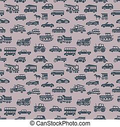 vector seamless car pattern