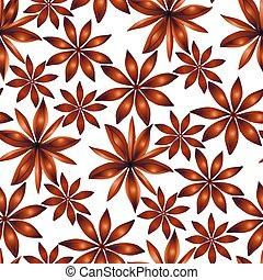Vector seamless cardamom pattern