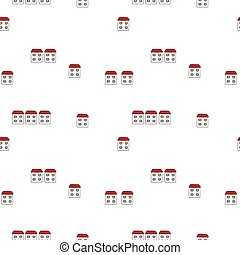 Vector seamless cartoon pattern with houses.