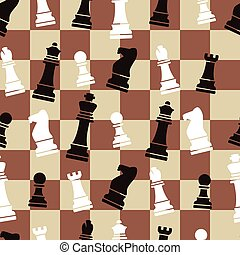 vector seamless chess background pattern