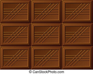 vector seamless chocolate bars