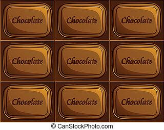 vector seamless chocolate