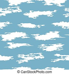 vector seamless clouds in the sky pattern