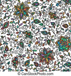 vector seamless color floral pattern
