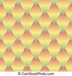 Vector seamless colorful abstract geometric dotted pattern.