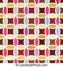 Vector Seamless Colorful Circle Star Quilt Tiling With White Round Outline Pattern