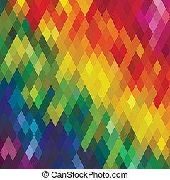 Seamless Colorful Rhombus Pattern