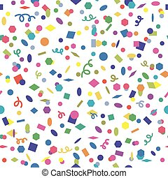 vector seamless confetti background pattern