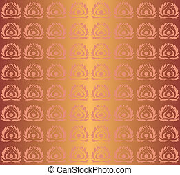 vector seamless copper pattern