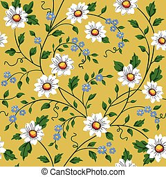 Vector seamless daisy pattern