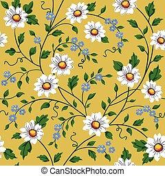 Vector seamless daisy pattern