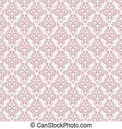 Vector seamless damask background