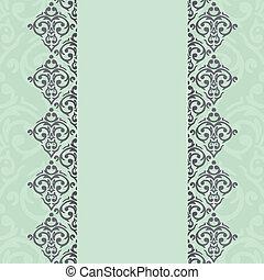 Vector seamless damask frame