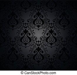 Seamless damask ornate Wallpaper for design