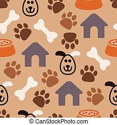 vector seamless dog pattern