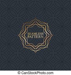 Vector seamless elegant pattern