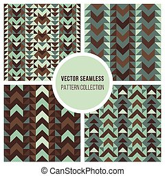 Vector Seamless Ethnic Geometric Pattern Collection