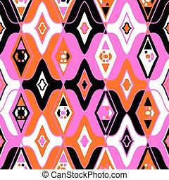 Vector seamless ethnic pattern with Uzbek, Turkish, Moroccan...