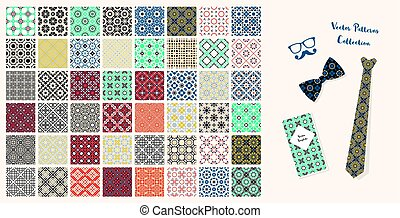 Vector Seamless Fabric Patterns