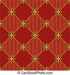 Vector Seamless Fleur De Lys Pattern