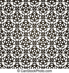 Vector seamless floral background. Lace pattern.