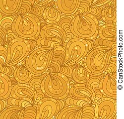 Vector seamless floral background of drawn lines