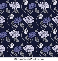 Vector Seamless Floral Background - Repeating vector...