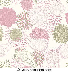 vector, seamless, floral, ouderwetse , achtergrond