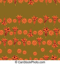 vector seamless floral pattern 2