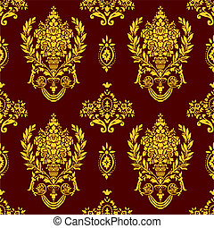 Vector Seamless Floral Pattern - Detailed background...