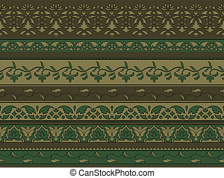 Vector seamless floral pattern, indian style
