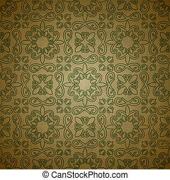 vector seamless floral  pattern on  grungy background with crumpled paper texture, EPS 10