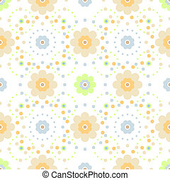 vector seamless floral pattern on white background