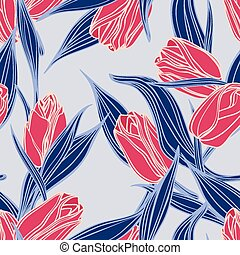 Vector seamless floral pattern