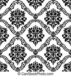 Vector Seamless Floral Pattern - Vector repeating floral...