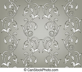 Vector Seamless Floral Pattern - vector seamless floral ...