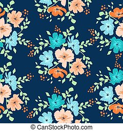 vector seamless floral pattern with daisy flowers