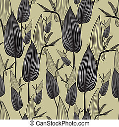 pattern with leafs