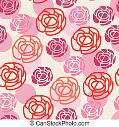 vector seamless floral pattern with symbols of roses