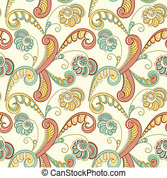 Vector  Seamless Floral Spring Pattern