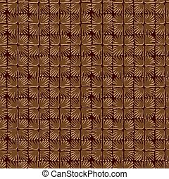 Vector seamless floral square tile coffee pattern